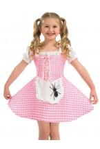 Girls Miss Muffet Book week fancy dress
